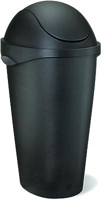 umbra スイングふた付丸型ゴミ箱 ペール 大容量 ダストボックス ブラック 45L SWINGER 2086300040