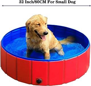 GRULLIN Pet Swimming Pool for Dog Portable Foldable Pool Cats Bathtub Water Pool