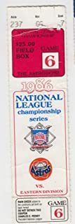 1986 NLCS Game 6 Ticket NY Mets @ Houston Astros 16 Inning Clincher 53034