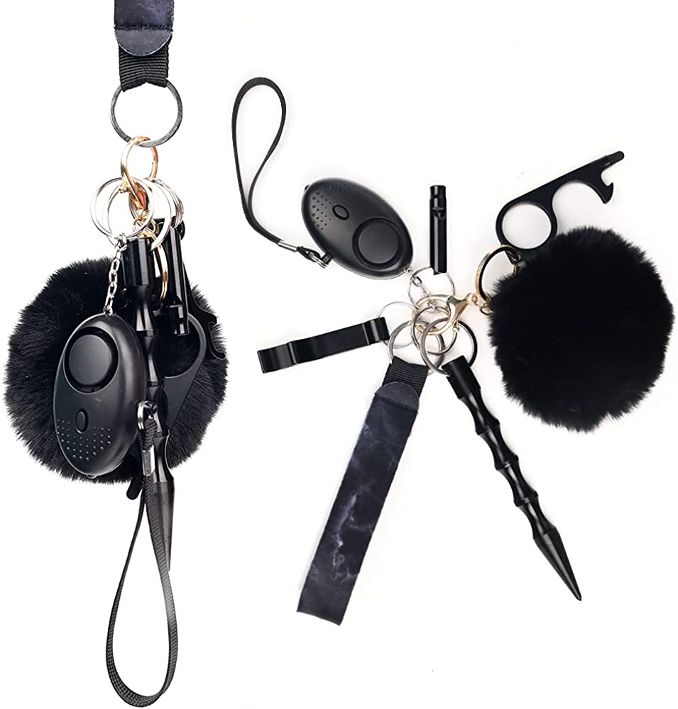 Portable Protection Keychain for Women ,10 Pcs Safety Keychain Accessories,With Safe Sound Personal Alarm