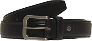 MNH Men's Genuine Leather Profile Belt