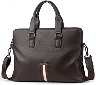 KEHUITONG Waterproof Business Briefcase - Leather Briefcase Men's Messenger Bag, Laptop Bag Handbag Multifunction Travel Backpack 14 Inch Toothbrush, comfortable electric toothbrush, easy