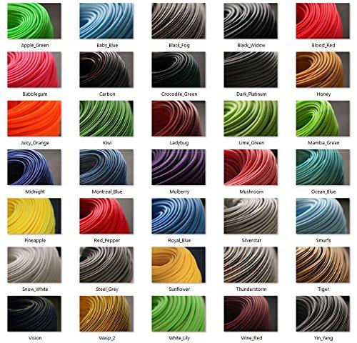 BD Geflechtschlauch Gewebeschlauch Kabelschlauch PET Sleeve Kabelschutz 1/5/10 Meter (12mm, Carbon, 5)