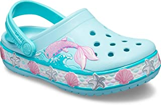 Crocs Kids' Boys and Girls Mermaid Band Clog
