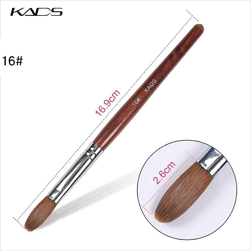 接続詞横にそれからKADS アクリルネイルブラシ 高品質コリンスキー製 16# ウッドハンドル 高級感 スカルプネイル用筆 ネイルアート専用ブラシ (16#)