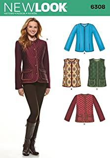 Simplicity New Look Pattern 6308 Misses Jackets and Vests Sizes 10-12-14-16-18-20-22