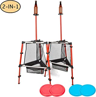 ROPODA 2-in-1 Outdoor Frisbee Game Set-Frisbee Bottle Game,Disc Toss Game Perfect for Kids and Adults,Beach, Lawn, Backyard, Camping, Tailgating and Outdoor Play