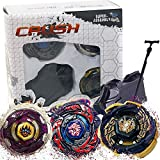 Crush Blades Battling Game Tops Metal Fusion Starter Set | Launcher Included | 3 Set: L-Drago Destructor, Phantom Orion and Black Sun Galaxy Pegasus