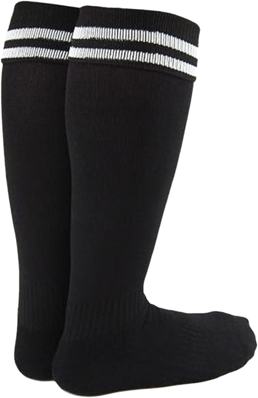 Lian LifeStyle Boy's 1 Pair Knee High Sports Socks for Baseball/Soccer/Lacrosse XL002 S Black