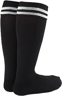 Lian LifeStyle Girl's 1 Pair Knee High Sports Socks for Baseball/Soccer/Lacrosse XL002 XXS Black