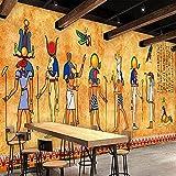 Papel tapiz fotográfico 3D murales egipcios personalizados Bar antiguo fondo de restaurante pintura decorativa Pared Pintado Papel tapiz 3D Decoración dormitorio Fotomural sala sofá mural-300cm×210cm