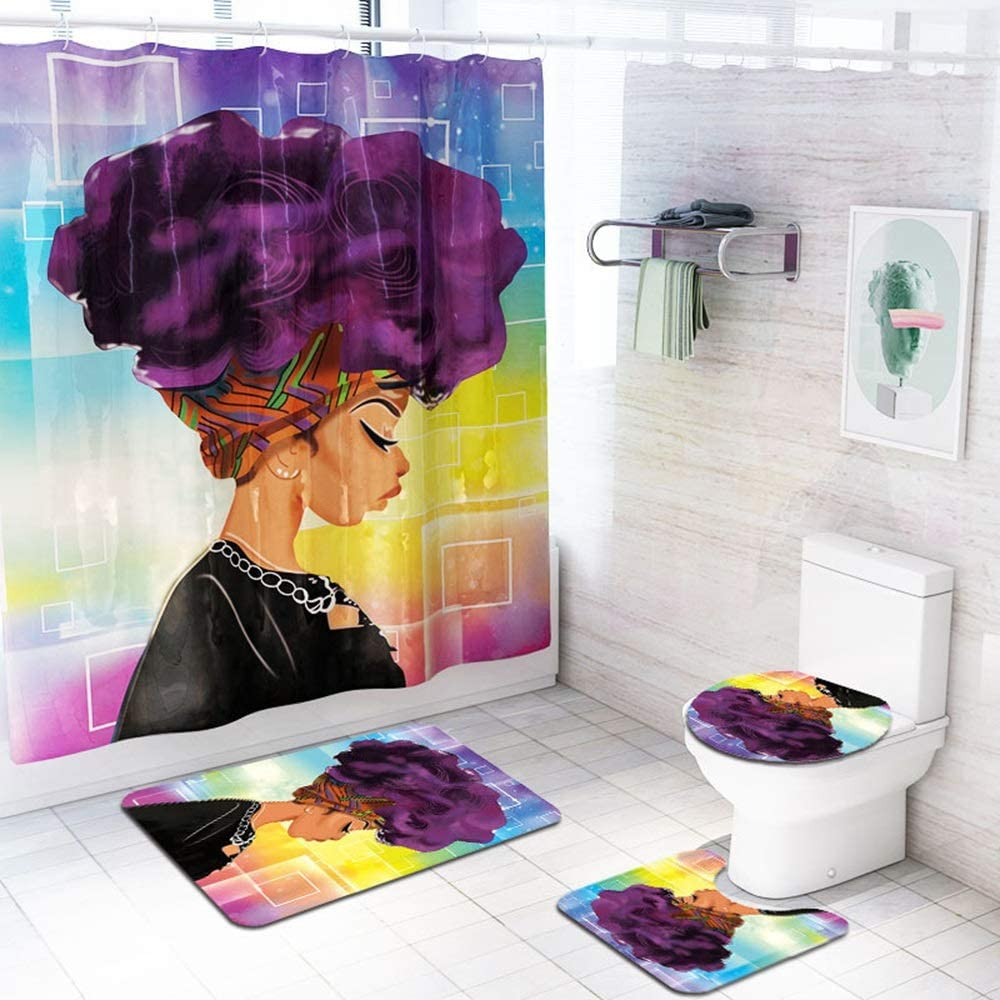 Raxinbang Non Ranking TOP8 Slip Chicago Mall mat Color Curt Background Girl Shower Pattern