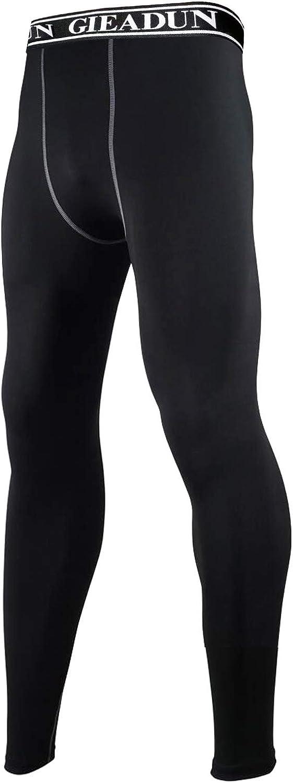 GIEADUN Leggings Hombre, Pantalón de Compresión Secado Rápido Pantalones Deporte Mallas Largas para Running Fitness Yoga
