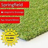 Steffensmeier Kunstrasenteppich Springfield | Outdoor für Terrasse und Balkon | wasserdurchlässig mit UV-Garantie | Meterware, Größe: 400x150 cm