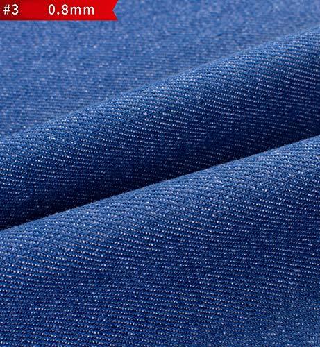 RSH Jeansstoff Jeans Soft Plain Leinenoptik Polster Stoff Vorhang Kissen Polster Polstermöbel Sofa Denim Slub Stretch Jeans Baumwollmaterial 138cm Breit (Color : 3#)