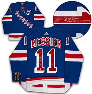 Mark Messier Signed Jersey - Adidas Last Game Note - Autographed NHL Jerseys