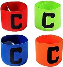 Football C Standard /élastiqu/ée pour Les Enfants adapt/é /à de Nombreux Types de Sports /élastiqu/ées Brassards ASEOK Multicolor Football Capitaine Armband Armband Velcro r/étractable