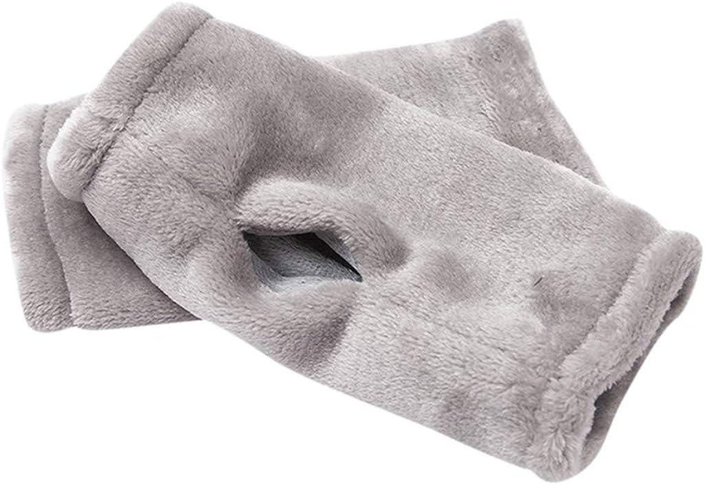 GREFER Fingerless Warm Gloves with Hole Superlatite Luxury goods Cozy Fingerle Half Thumb