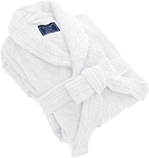 MARQUESS Cotton Bathrobe for Men, Soft & Warm Thick Plush Housecoat,Terry Comfortable Housecoat