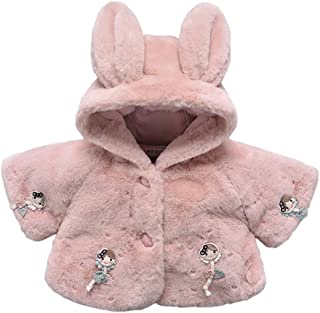 Fairy Baby Toddler Baby Girl Winter Thick Outwear Cute Hood Fleece Jacket Cloak Cape