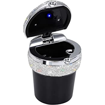 Home and Office ygmoner Portable Car Bling Ashtray Cup Holder Car Accessories Ideal for Car Black