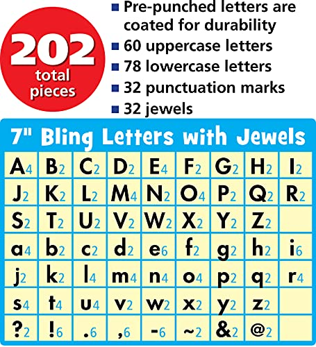 Teacher Created Resources 75174 7-Inch Bling Letters with Jewels Photo #7