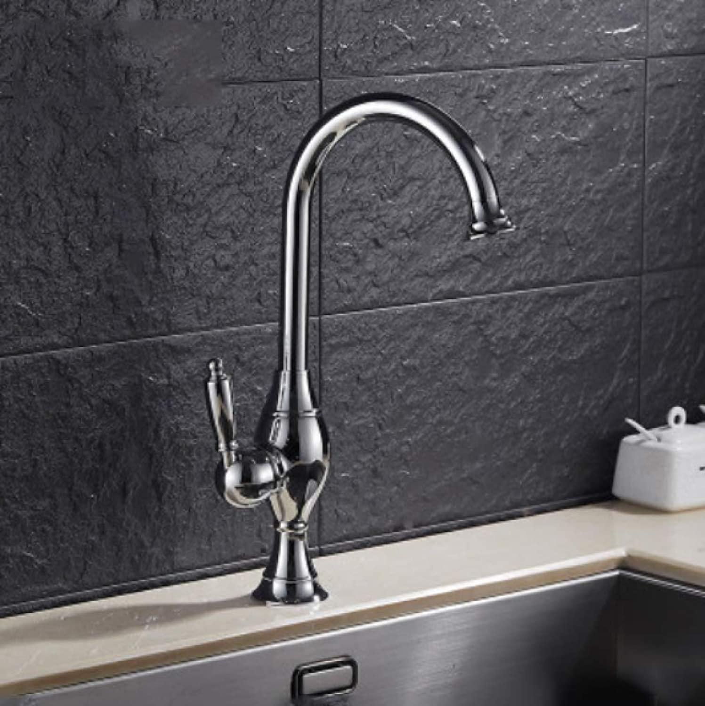 GZF Faucet hot cold European kitchen bathroom dual-use basin faucet bathroom single hole wash basin faucet