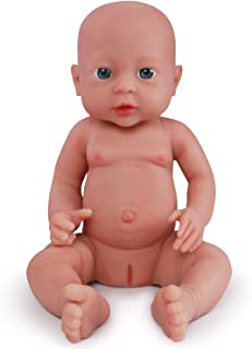 Vollence 16 inch Reborn Baby Doll That Look Real,Not Vinyl Material Dolls,Full Weighted Body Silicone Baby Dolls,Handmade Lifelike Realistic Baby Doll,Newborn Real Baby Dolls - Girl