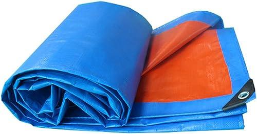 Bache Bache Imperméable à l'eau de prougeection solaire à l'auvent Ultra-léger à trois roues de bache de bache d'auvent d'auvent d'auvent d'expédition de coutume, Orange + bleu, épaisseur 0.35mm, 180g