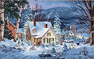 Dimensions Gold Collection Winter'S Hush Counted Cross Stitch Kit-20
