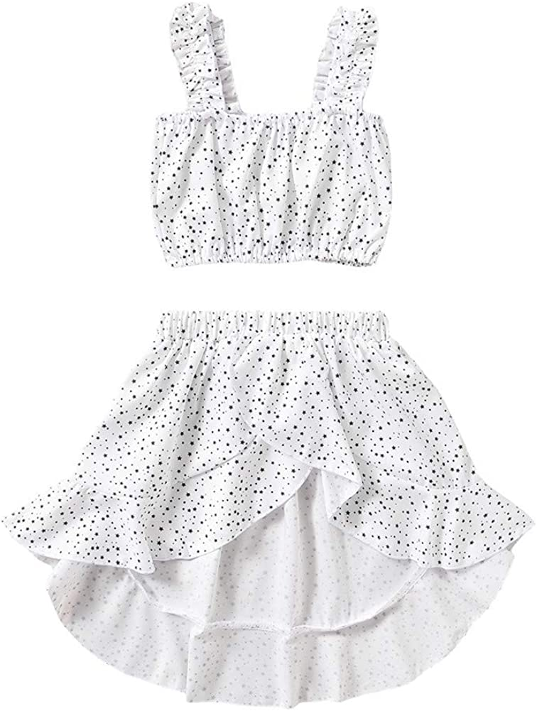 Mud Kingdom Little Girls 2021 autumn and winter new Summer Free Shipping Cheap Bargain Gift Outfits with Dot Stars Hig Polka