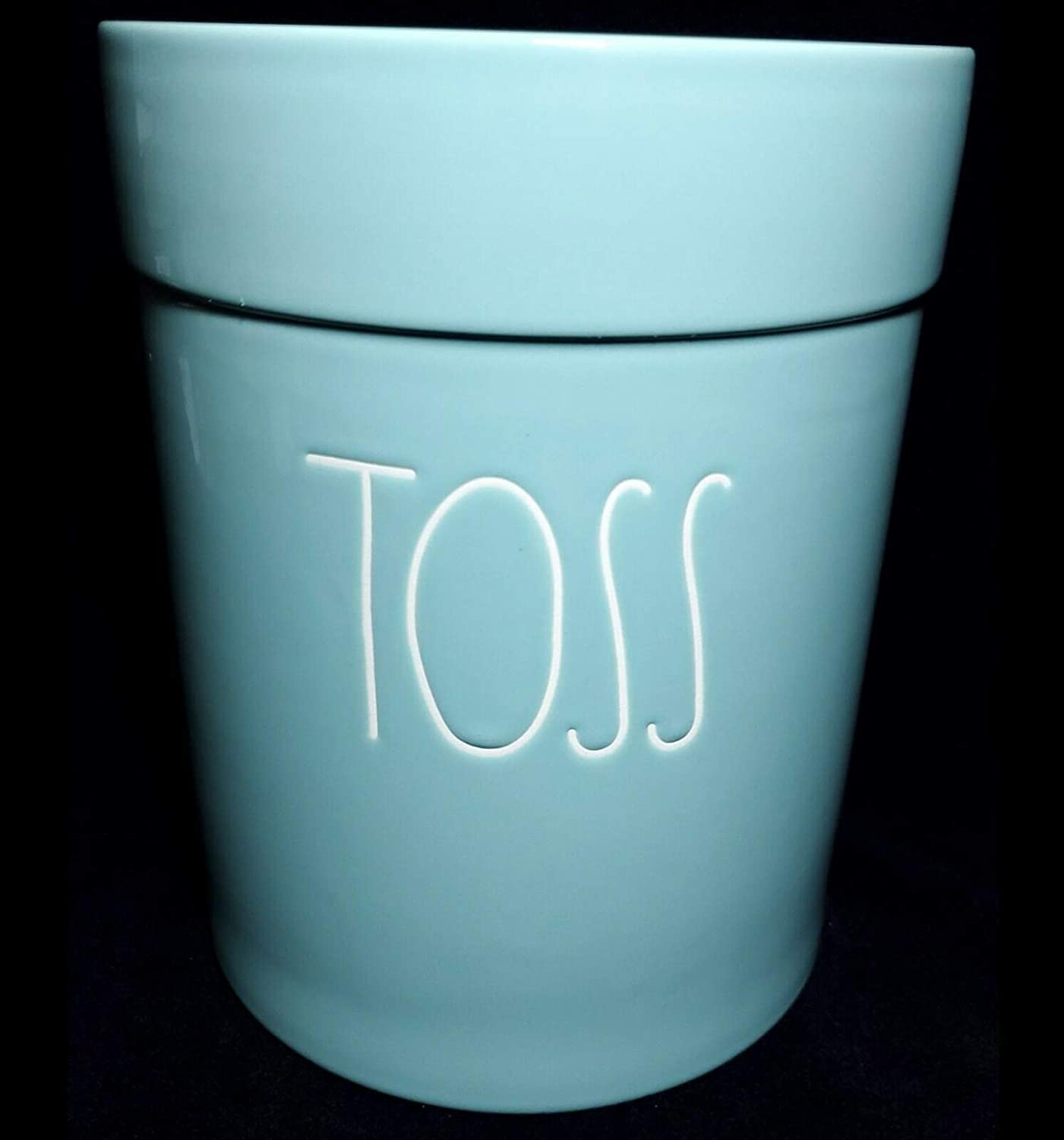 """Rae Dunn by Today's only Great interest Magenta """"Toss"""" Bathroom Wastebasket"""