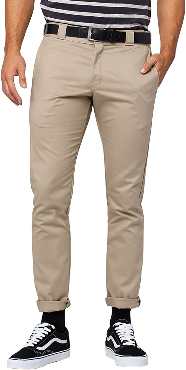 Dickies Men's Skinny Straight Fit Desert Sand Fashionable Arlington Mall 31x30 Pant Work