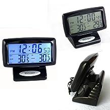 Termómetro digital LCD 2 en 1 para coche, pantalla digital, pantalla digital, pantalla digital, interior y exterior, herramienta de medición de temperatura dual con función de retroiluminación