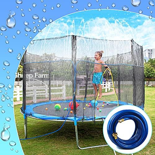 Trampoline Sprinkler Hose Girls and Adults Trampoline Accessories Fun Summer Outdoor Water Games Yard Toys Sprinklers Backyard Water Park for Boys Vodche Trampoline Sprinkler for Kids 39 ft