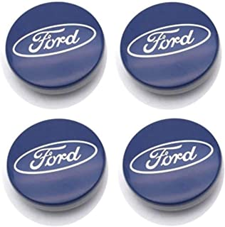 WJSWBX 4pcs Auto Wheel Hub Center Caps Covers 60mm For Ford Mustang Explorer Focus Kuga Replacement Badge Emblem Covers Decorative Wheel Trim Car Styling Accessori