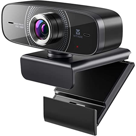 Webcam 1080P with Microphone HD Web Cam 30fps, Vitade 826M USB Computer Web Camera Cam for Streaming Gaming Conferencing Mac Windows 8 10 PC Laptop Desktop Plug & Play