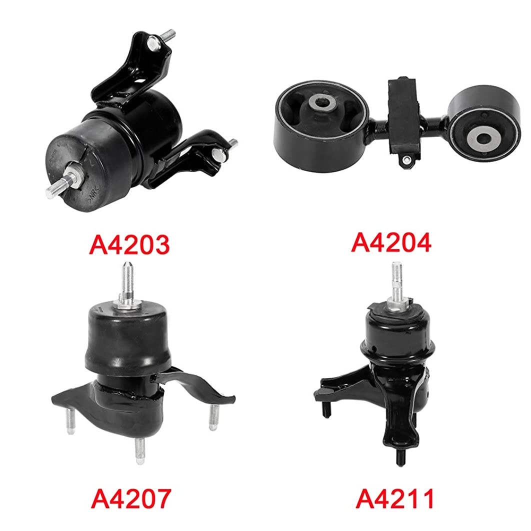 ECCPP Engine Motor and Trans Mounts A4203 A4211 A4204 A4207 Set of 4 Fit For Toyota Camry 2002 2003 2004 2005 2006 2.4L