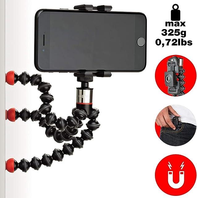 JOBY GripTight One GP Magnetic Impulse - Soporte nivuersal y trípode magnético GorillaPod con Control Remoto Bluetooth para Smartphone e iPhone JB01494-BWW