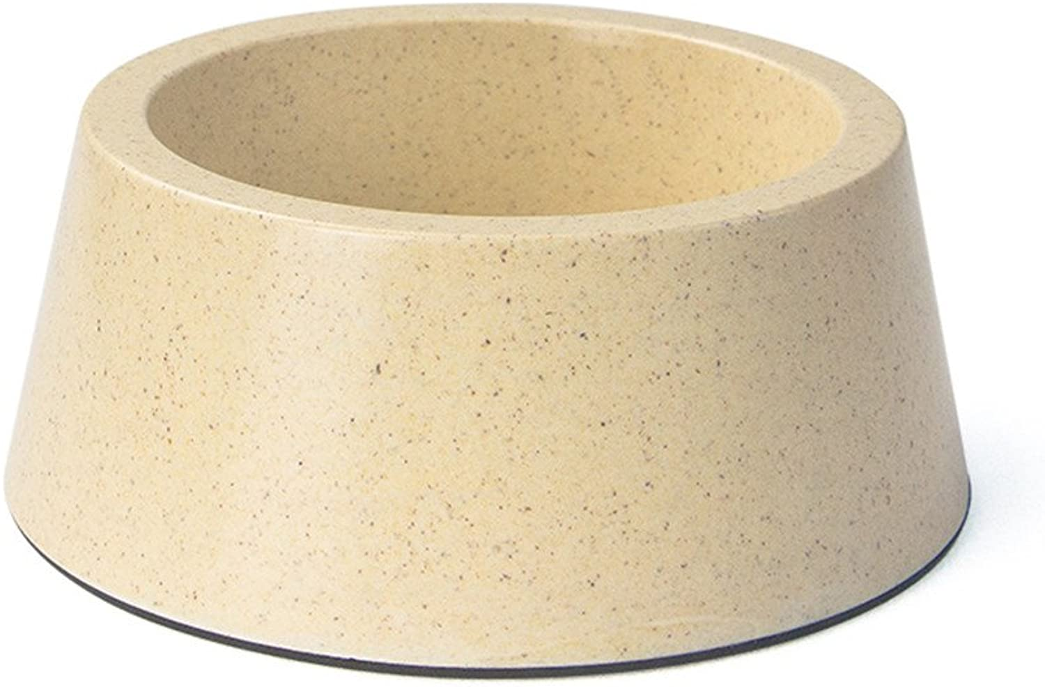ForeverYou Dog Bowl Dog Pot cat Bowl Double Bowl Small pet Stainless Steel Drinking Water Bowl, Beige