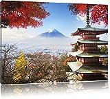 Pixxprint Japanischer Tempel im Herbst, Format: 120x80 auf