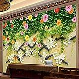 3D Papier Peints Murals Décorations Murales,Superbe Motif De Fleurs Rameaux Art Moderne Design Premium 5D Peinture Murale d'impression pour La Décoration De La Maison Bar Café Décoration Respectu