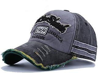 74cf6276e6615 elwow hommes de délavé Vintage Lettre Imprimé Casquette de baseball, Coque  à clipser truker Hat