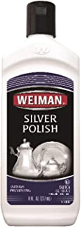 Weiman Silver Polish and Cleaner - 8 Ounce - Clean Shine and Polish Safe Protective Prevent Tarnish (2 Pack)