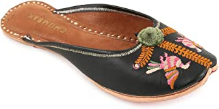 Chumbak Sky is The Limit Embroidered Jutti - 40 Black