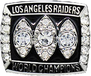 Gloral HIF Oakland Raiders Championship Ring Super Bowl XVII 1983 Replica Ring sz 11 with Display Wooden Box