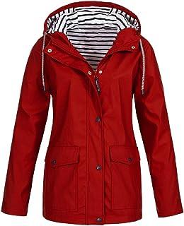 Rain Jacket Outdoor Hooded Women Trench Coats Waterproof Raincoat