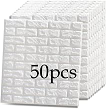 3D-wandpaneel zelfklevend behang, 70X77Cm / 27,5X30,3 inch, waterdichte en vochtbestendige tv-achtergrondmuur, anti-collis...