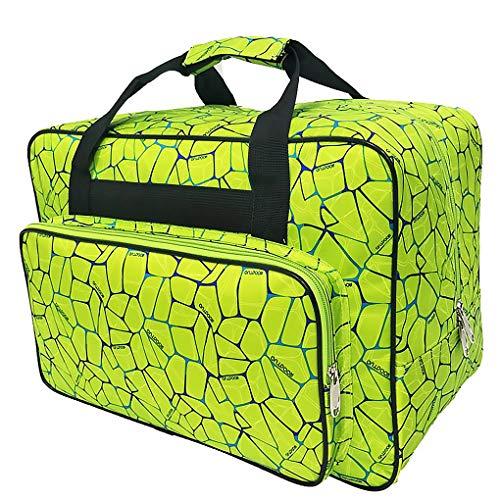 Máquina de coser sacos, lleva la caja, la máquina de coser a prueba de agua bolsa de asas, de viaje portátil máquina de coser bolsos estuche de almacenamiento acolchado con bolsillos y Mango