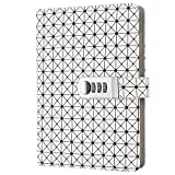 Taccuino Righe Journal Quaderno vintage in pelle, diario bianco...
